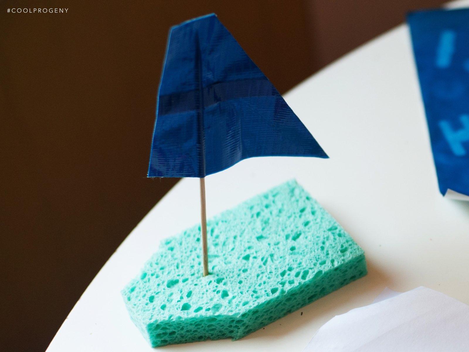 Summer Crafts Sponge Boats