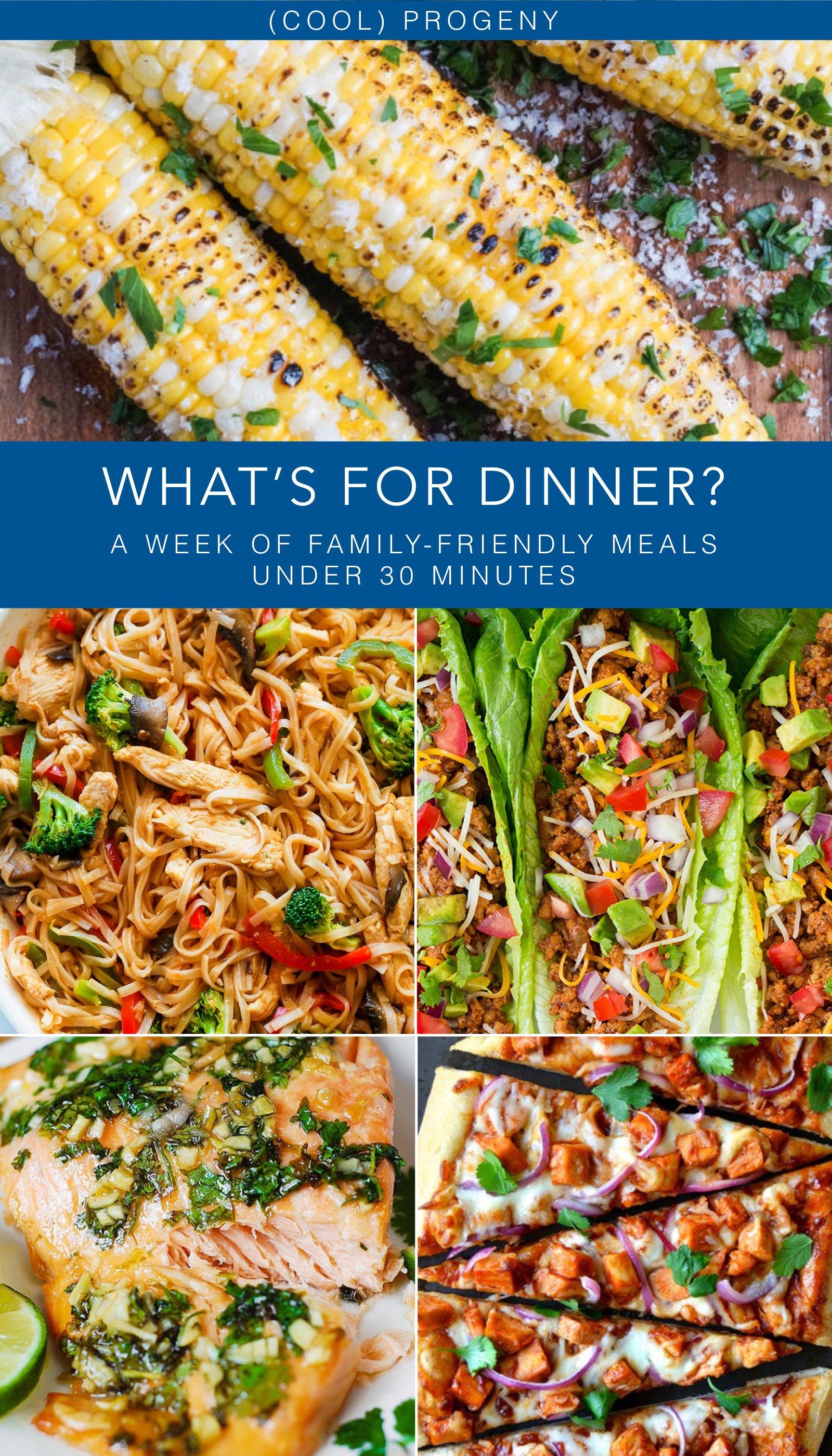 Family Friendly Dinners - September 3, 2016