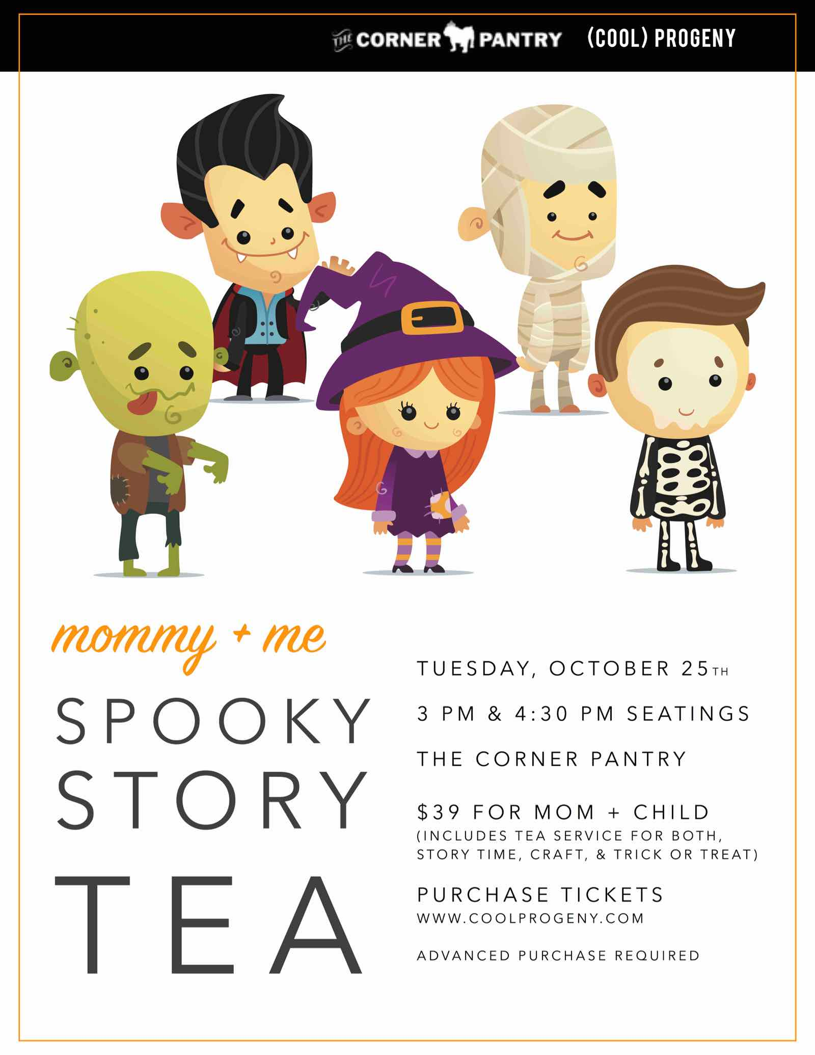 Mommy and Me Spooky Story Time Tea Flyer - (cool) progeny