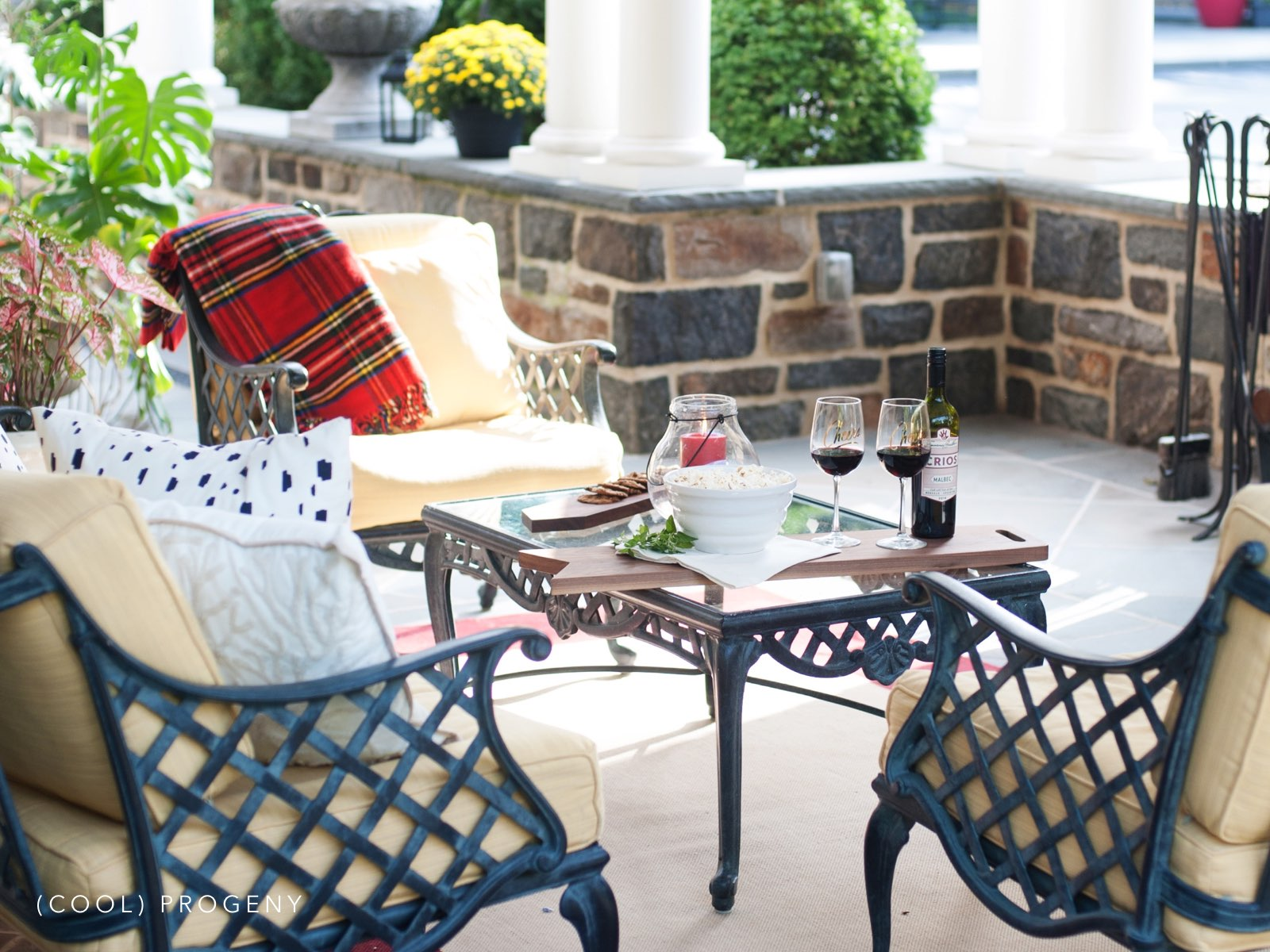 Cozy Outdoor Fall Living Space cool