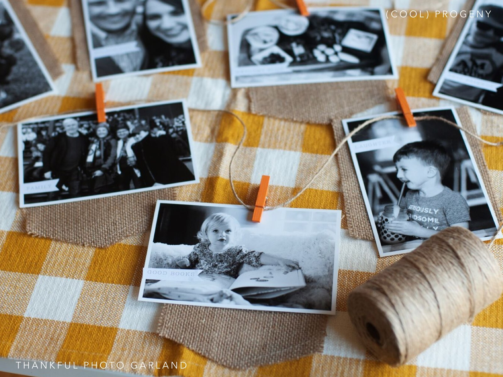 Create a Thankful Photo Garland - (cool) progeny