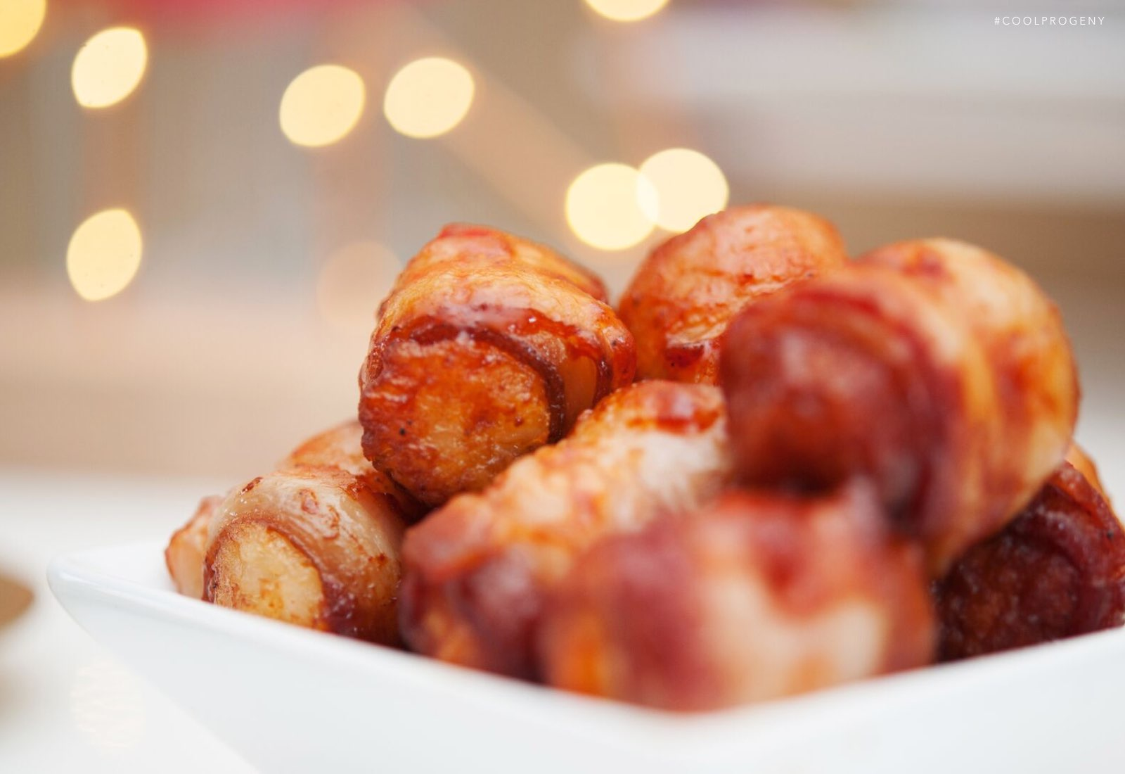 Bacon Wrapped Tater Tots - (cool) progeny