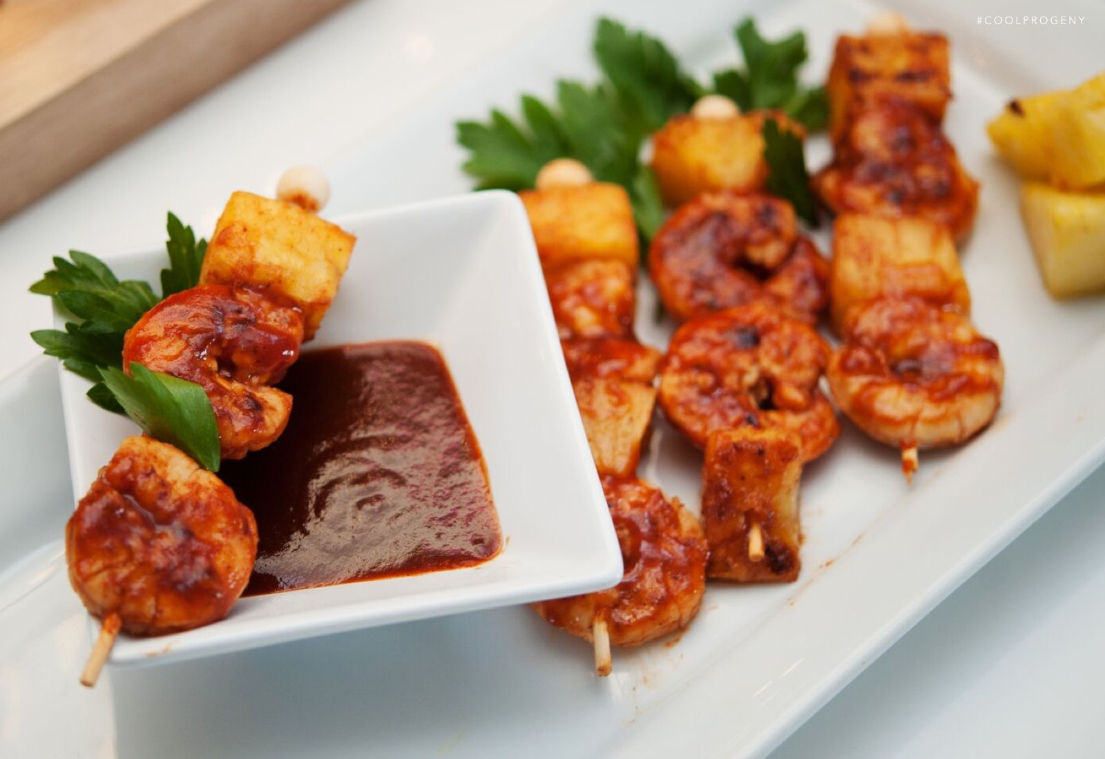 Shrimp and Pineapple Skewers - (cool) progeny