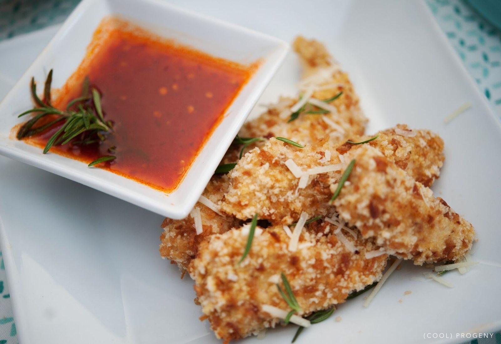 snow day snacks: crispy onion chicken strips - (cool) progeny