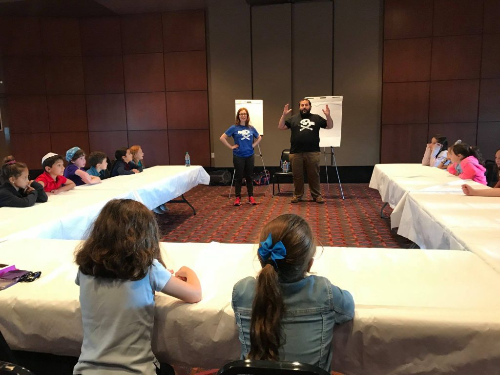 Krieger Schecter Day School Third Graders Work with Story Pirates. Photo courtesy of KSDS Facebook page.