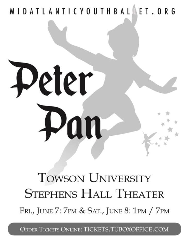 """""""You Can Fly!"""" Dancers Soar to New Heights in MidAtlantic Youth Ballet's  Peter Pan"""