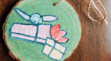 MAKE IT! Upcycled Kids' Art Ornaments