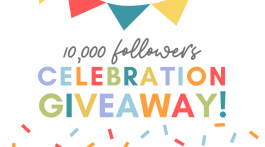 10,000 Followers Celebration Giveaway