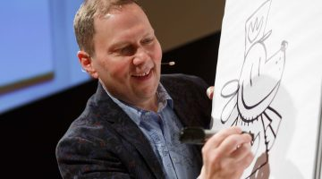 Dav Pilkey at Home | Image via Library of Congress Website