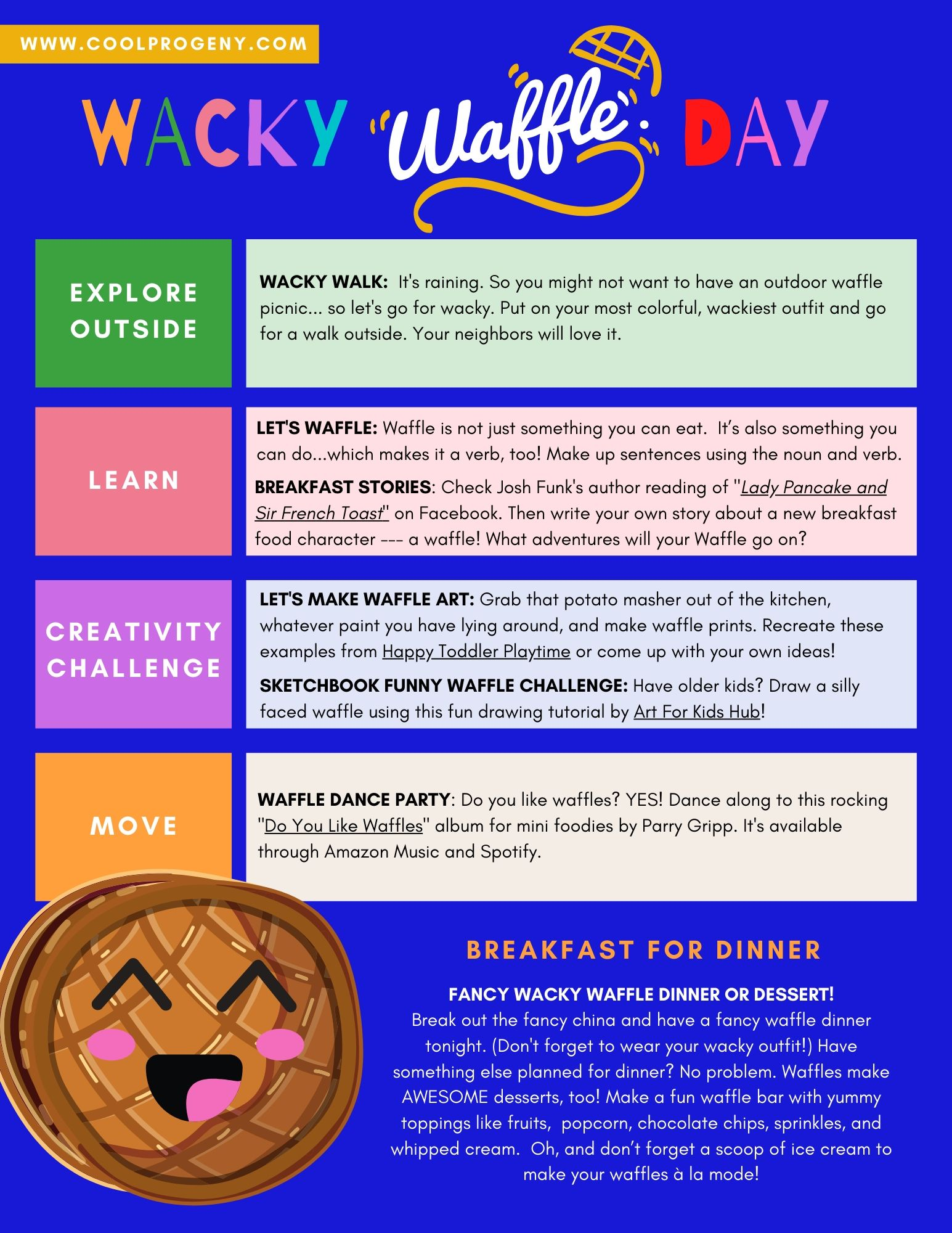 Cool Fun at Home: Wacky Waffle Day - (cool) progeny