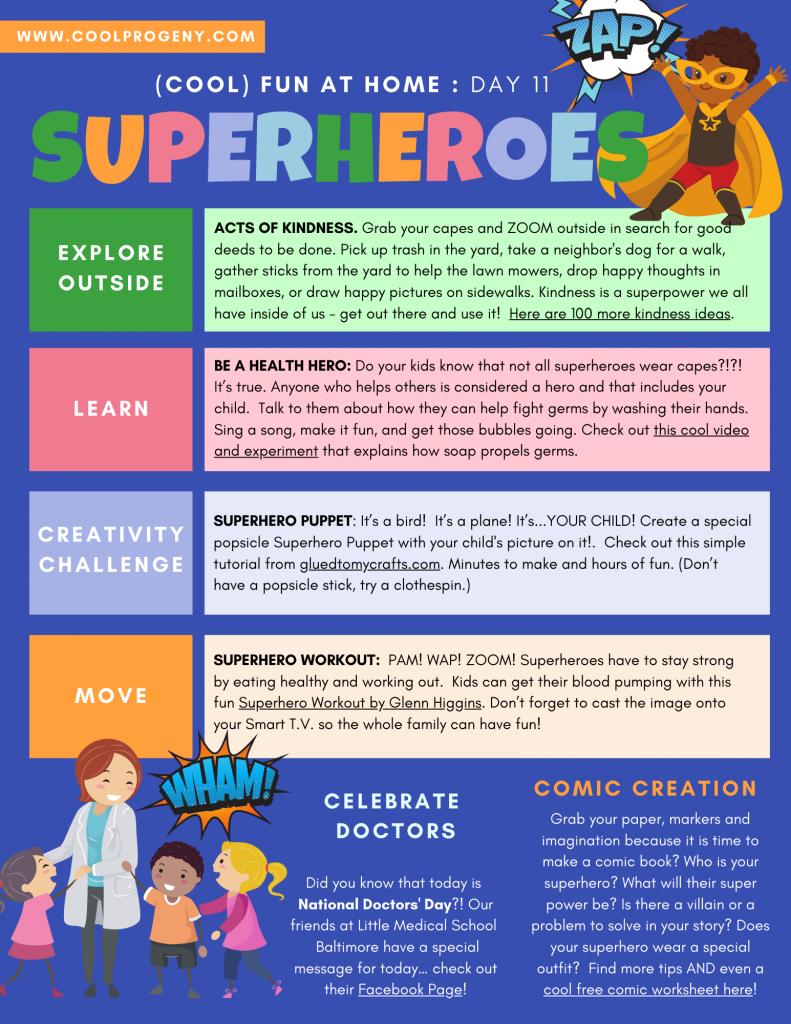 Cool Fun at Home | Superheroes