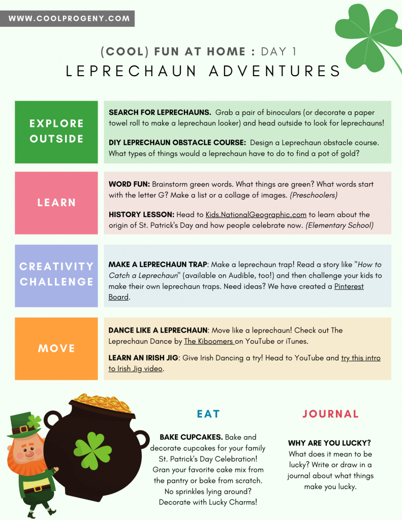 Cool Fun at Home | Leprechaun Adventures