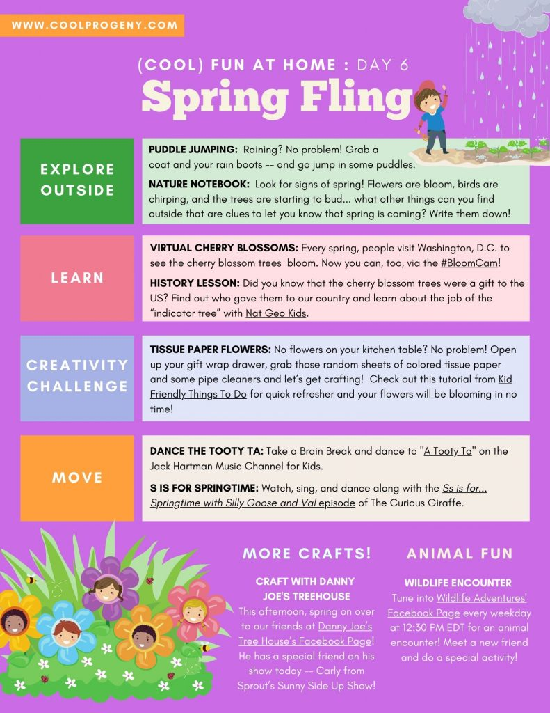 DAY FOUR - Spring Fling - (cool) progeny