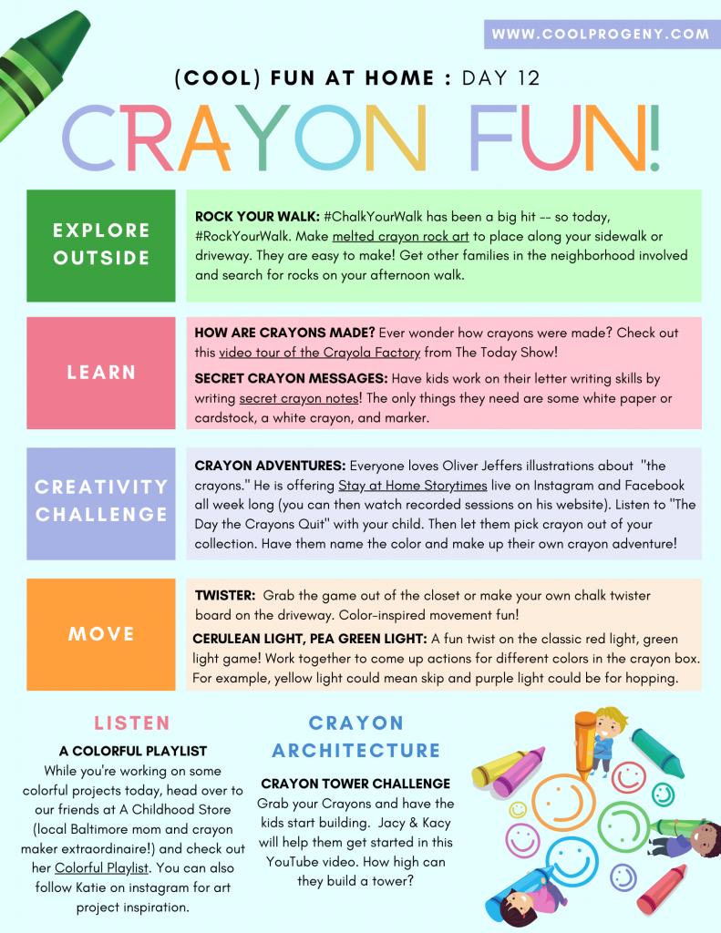 DAY TWELVE - Crayon Fun