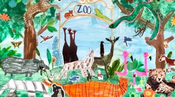 Maker Monday: Zoo Collage Art for Kids