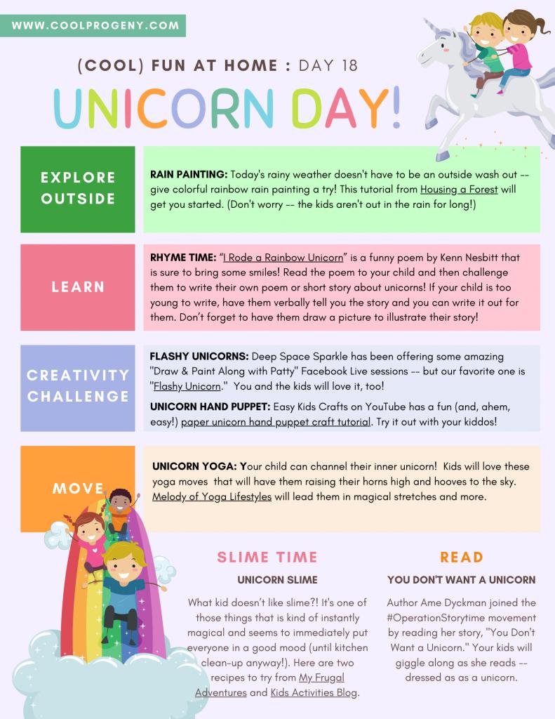 DAY EIGHTEEN - Unicorn Day