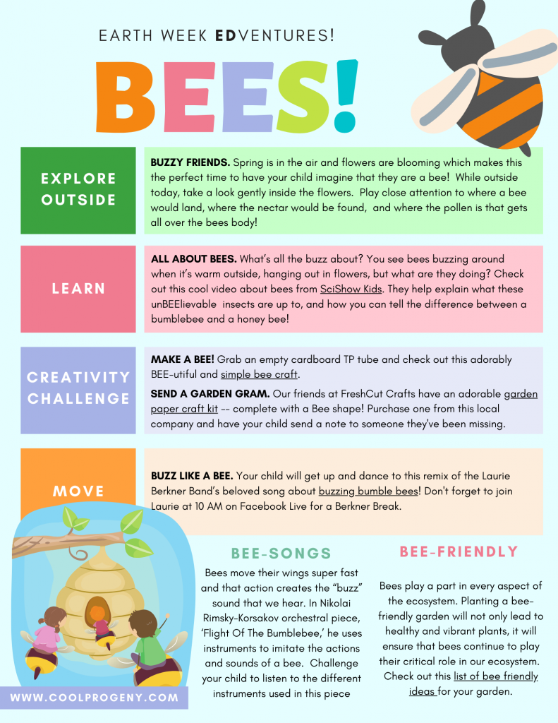 EARTH WEEK: All About Bees!