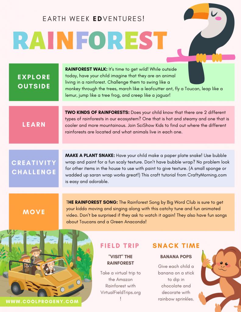 Earth Week Edventures: Rainforest Fun for Kids!