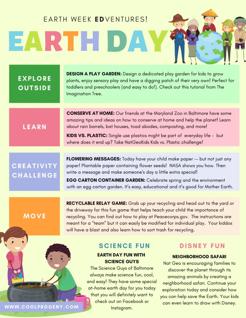 Earth Week Adventures: Earth Day!