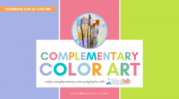 Cool EDventures: Complementary Color Art with Idea Lab Kids Howard County