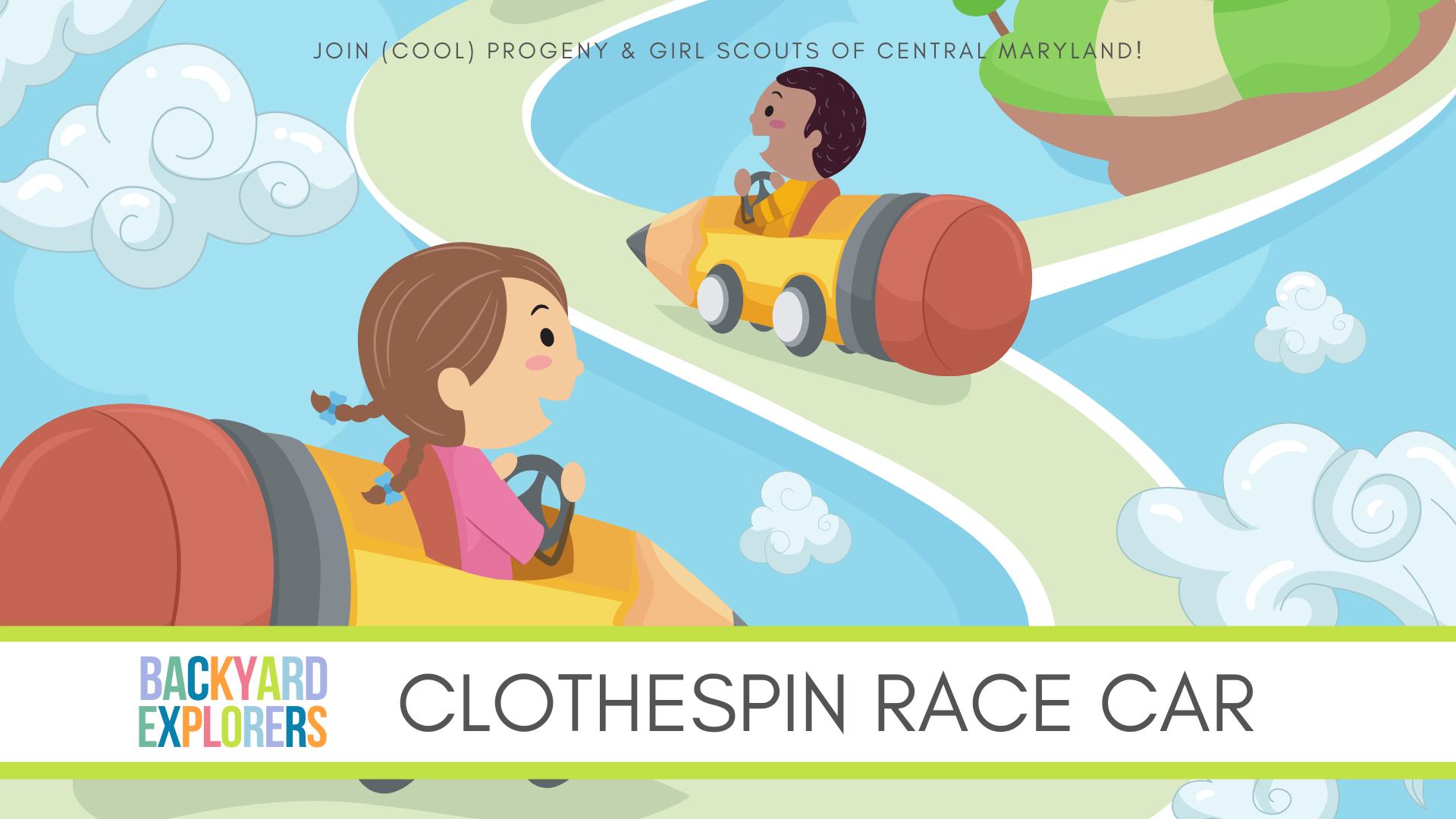 DIY Clothespin Race Car