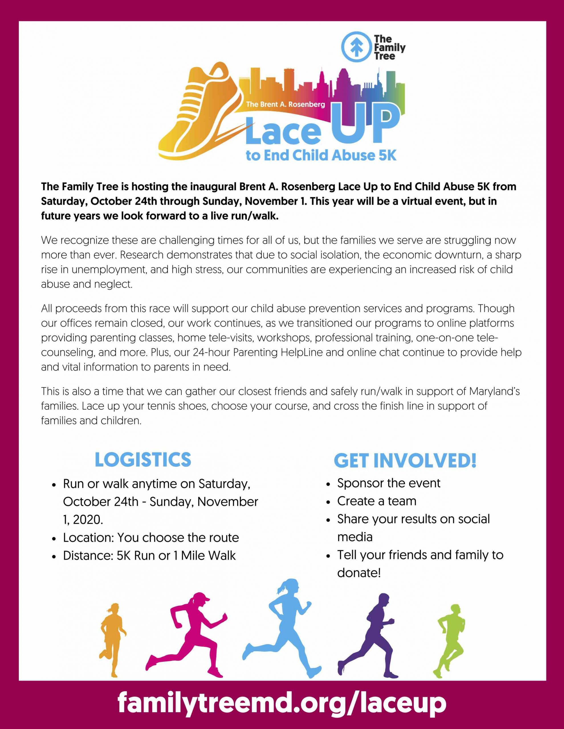 Lace Up to End Child Abuse 5K