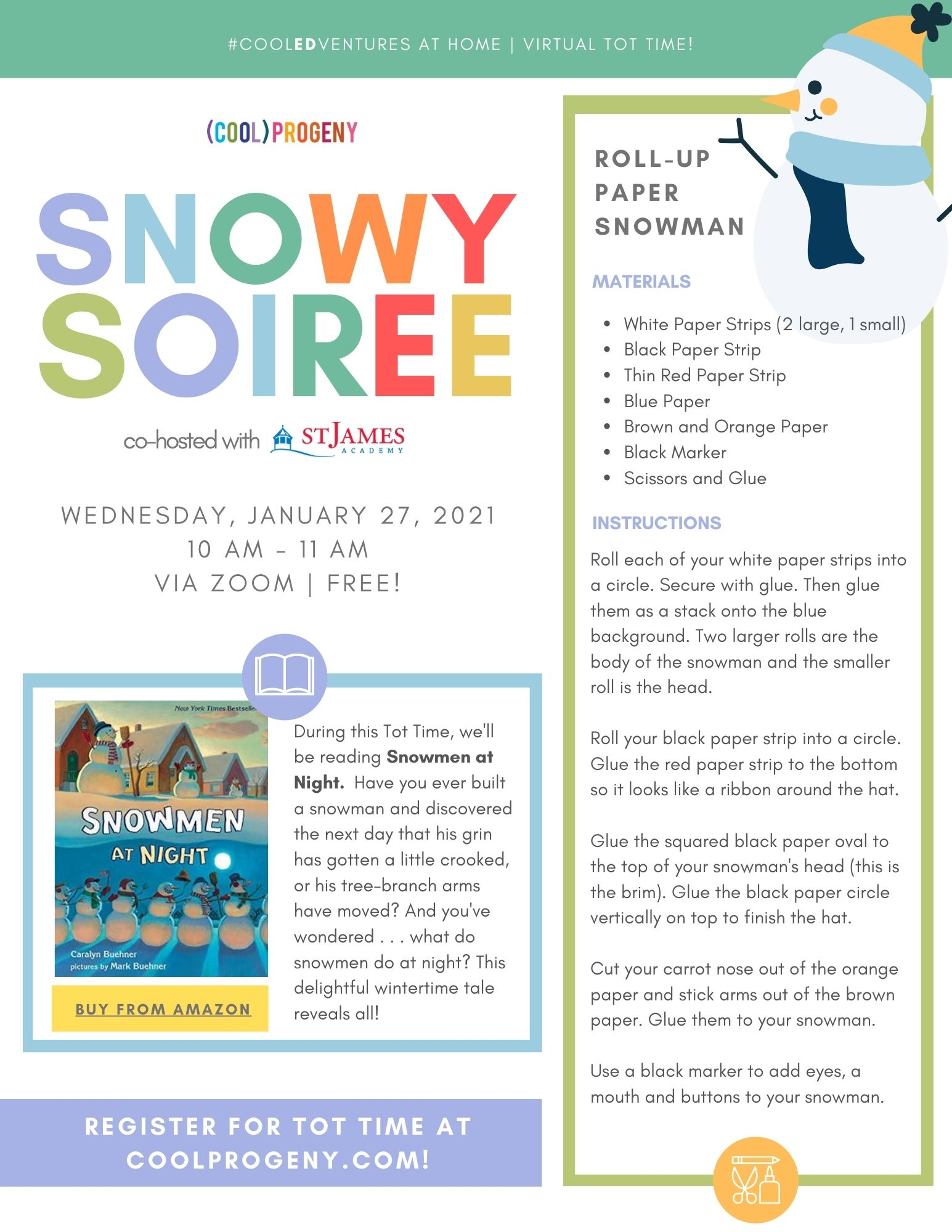 VIRTUAL TOT TIME | Snowy Soiree