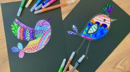 Zentangle Art for Kids: Birds!