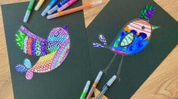 Zentangle Art for Kids: Birds!
