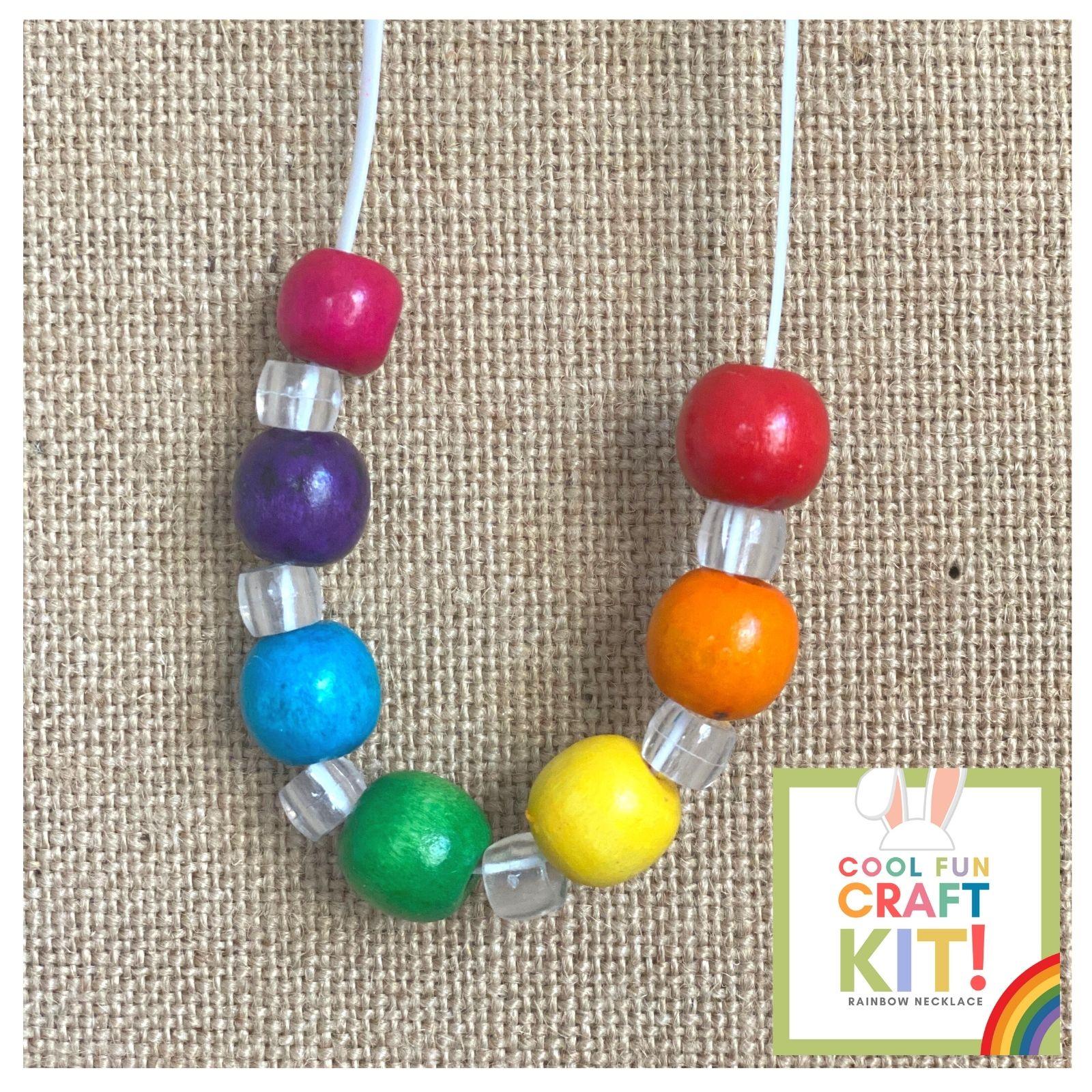 Rainbow Beaded Necklace