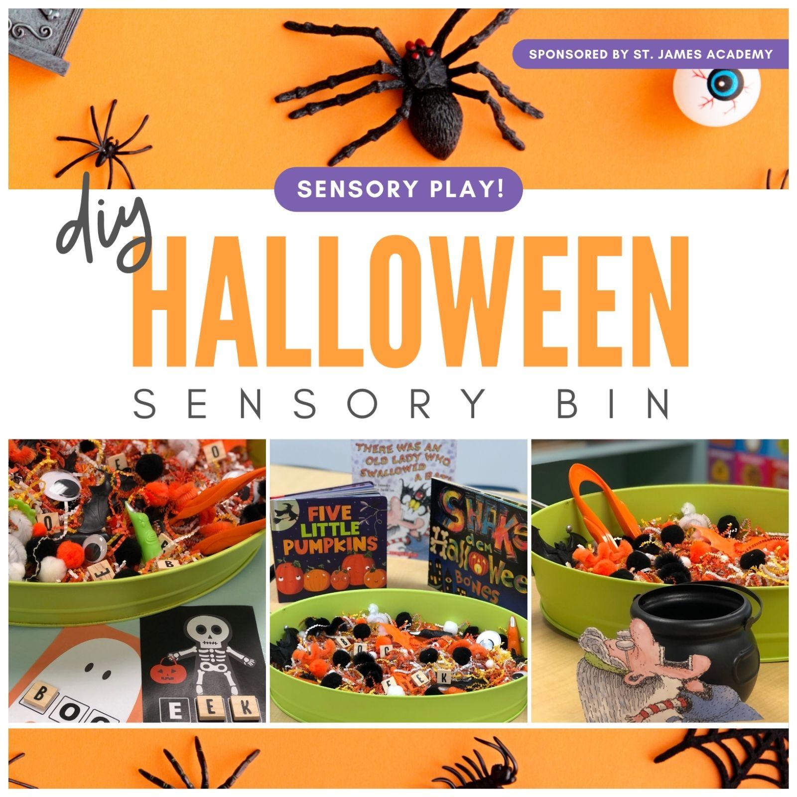 DIY Halloween Sensory Bin